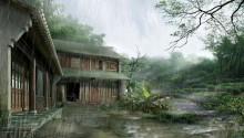 Download Asian temple PS Vita Wallpaper