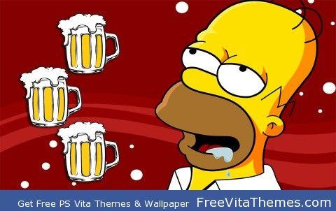 Homer Simpson PS Vita Wallpaper