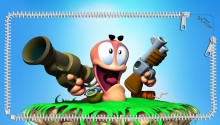 Download 3D Worms Lockscreen PS Vita Wallpaper
