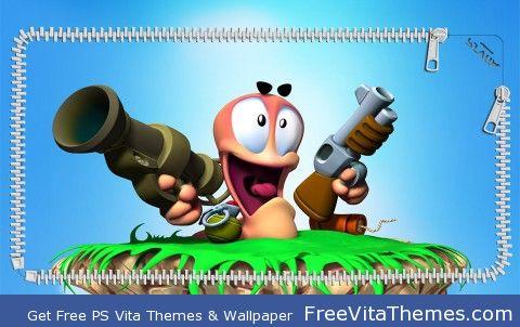 3D Worms Lockscreen PS Vita Wallpaper