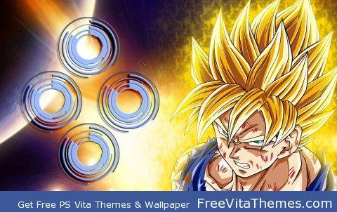 Super Saiyan Goku PS Vita Wallpaper