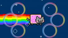 Download Nyan Cat PS Vita Wallpaper