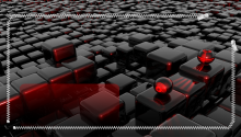 Download Red Cube Puzzle Lock Screen PS Vita Wallpaper