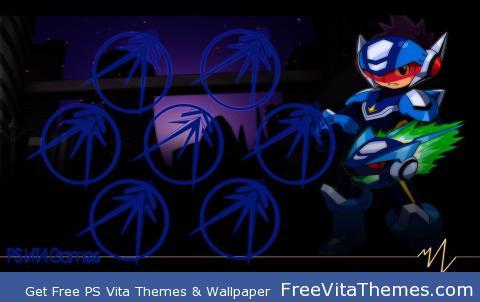 RockMan City Blue PS Vita Wallpaper