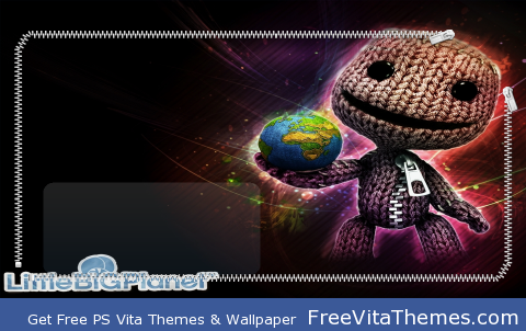 Sack Boy Globe Lock Screen PS Vita Wallpaper