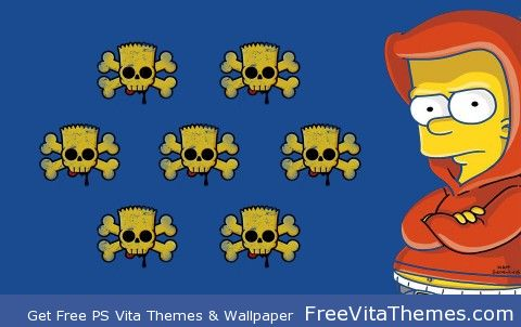 Bart Simpson PS Vita Wallpaper