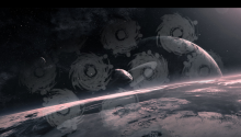 Download Black Holes in Space PS Vita Wallpaper