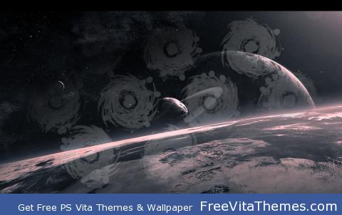 Black Holes in Space PS Vita Wallpaper