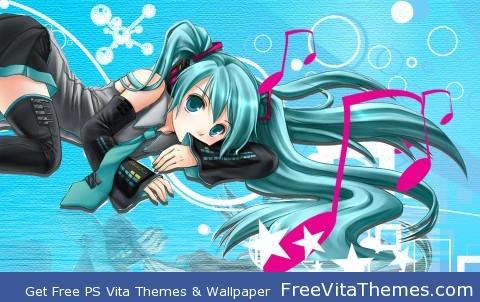 miku hatsune 3 PS Vita Wallpaper