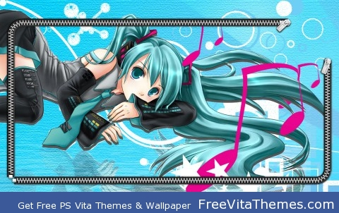miku hatsune 3 zip PS Vita Wallpaper