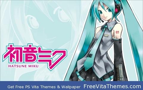 miku hatsune 5 PS Vita Wallpaper