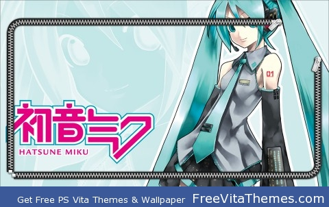 miku hatsune 5 zip PS Vita Wallpaper