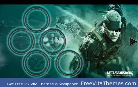 Metal Gear Solid 4 PS Vita Wallpaper