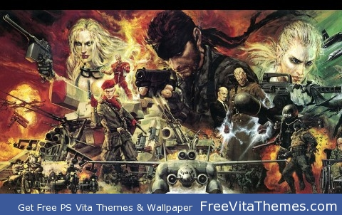 Metal Gear Solid 3 Snake Eater official Artwork PS Vita Wallpaper