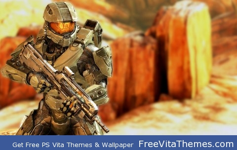 Master Chief Halo 4 PS Vita Wallpaper