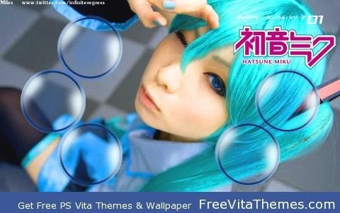 Hatsune Miku Cosplay PS Vita Wallpaper