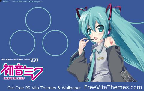 Hatsune Miku Transparent Effect Wallpaper PS Vita Wallpaper