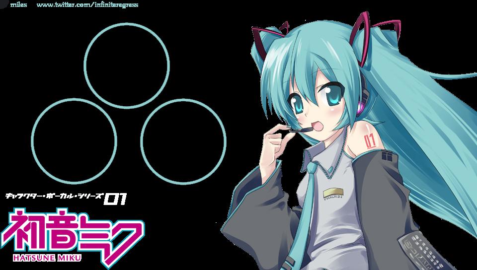 Hatsune Miku Transparent Effect Wallpaper PS Vita