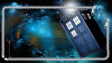 Download Doctor Who TARDIS lock screen PS Vita Wallpaper