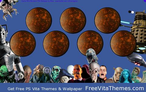 Doctor Who Monsters 'Dynamic' Wallpaper PS Vita Wallpaper