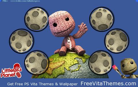 LittleBigPlanet Vita Sackboy 'Dynamic' Wallpaper PS Vita Wallpaper
