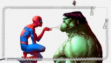 Download spiderman/hulk PS Vita Wallpaper