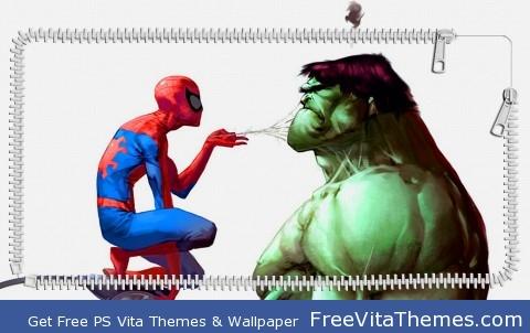 spiderman/hulk PS Vita Wallpaper