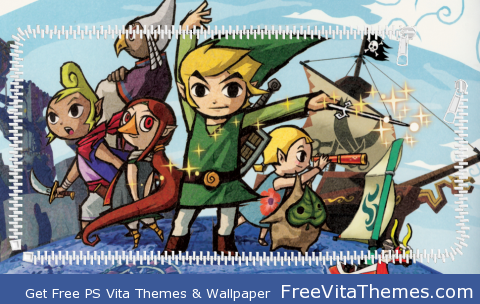 Zelda Wind Waker ZIP PS Vita Wallpaper