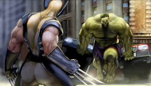 Download Wolverine vs. Hulk PS Vita Wallpaper