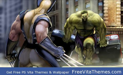 Wolverine vs. Hulk PS Vita Wallpaper