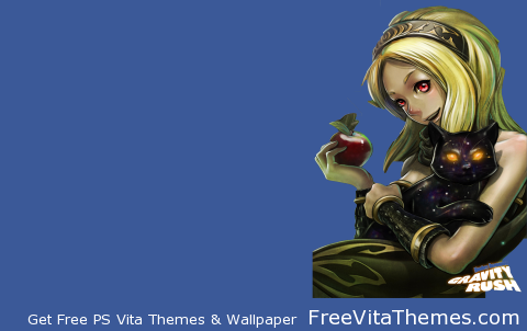 Transparent/Dynamic|Gravity Daze/Rush – Kat Portrait (Full) w/title PS Vita Wallpaper