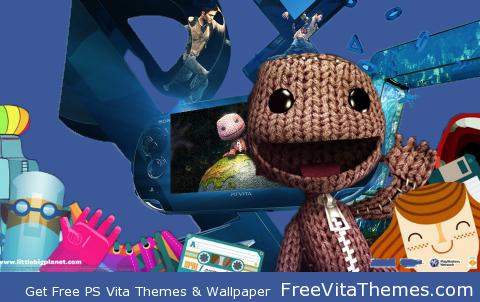 Transparent/Dynamic LittleBigPlanet Sackboy's PS VITA – by Dusean17 PS Vita Wallpaper