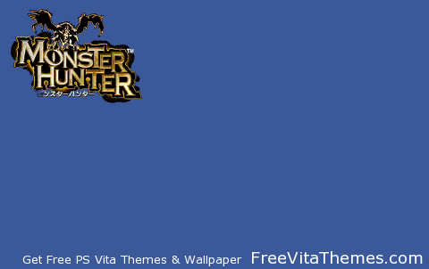 Transparent/Dynamic Monster Hunter Simple Title PS2 PS Vita Wallpaper