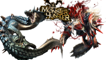 Download Transparent/Dynamic|Monster Hunter Lagiacrus & Jinouga (sub) PS Vita Wallpaper