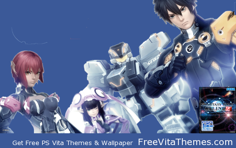 Transparent/Dynamic|Phantasy Star Online 2 w/ Title PS Vita Wallpaper