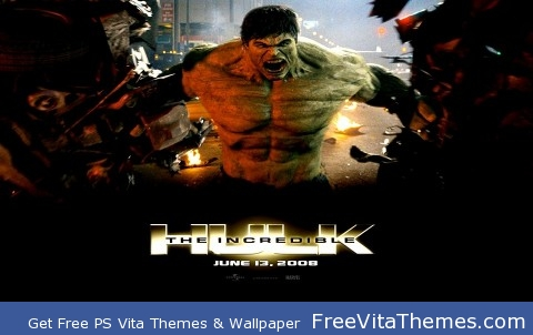 The Incredible Hulk 2008 PS Vita Wallpaper