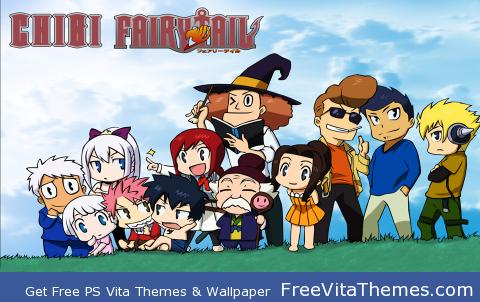 Chibi Fairy Tail PS Vita Wallpaper