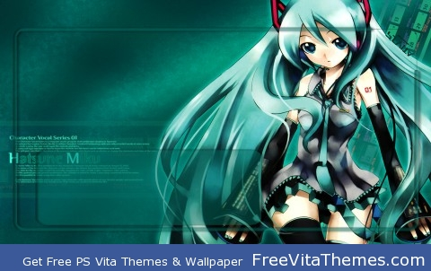 Hatsune Miku Lockscreen PS Vita Wallpaper