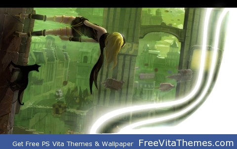 Kat Page 4- Gravity Rush Full Theme PS Vita Wallpaper