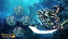Download Monster Hunter 3 – Lagia Crus PS Vita Wallpaper