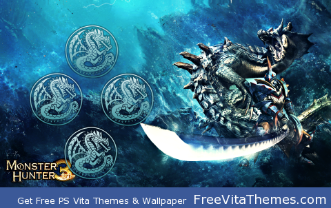 Monster Hunter 3 – Lagia Crus PS Vita Wallpaper