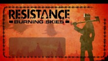 Download Resistance Buring Skies Wallpaper PS Vita Wallpaper