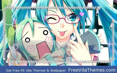 Hatsune Miku Love Lockscreen PS Vita Wallpaper