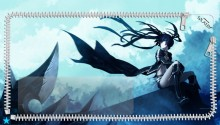 Download Black Rock Shooter Lockscreen PS Vita Wallpaper