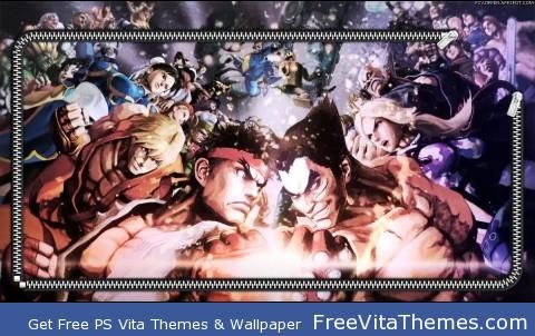 Zipper Lockscreen| Street Fighter X Tekken Forces PS Vita Wallpaper