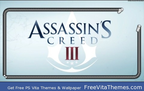 Zipper Lockscreen| Assassin's Creed III Logo PS Vita Wallpaper