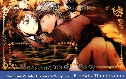 Felicita & Debito Arcana Famiglia Lockscreen PS Vita Wallpaper