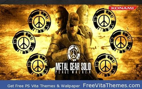 Metal Gear Solid Peacewalker PS Vita Wallpaper