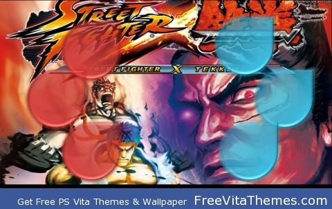 Wallpaper| Street Fighter X Tekken Devil vs Dragon PS Vita Wallpaper