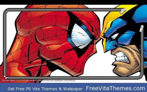Wolverine and Spiderman PS Vita Wallpaper